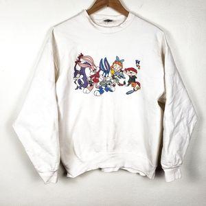 VINTAGE 1991 ACME Looney Toones White Sweatshirt L